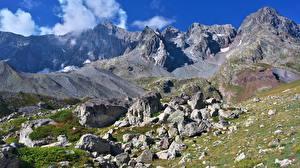 Фотография Гора Франция Утес Col d'Arsine Природа