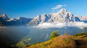 Фотографии Гора Италия Облако Sexten Dolomites Природа