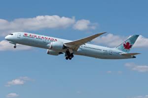 Обои Пассажирские Самолеты Боинг Сбоку 787-9, Dreamliner, Air Canada