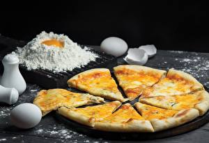 Фотографии Пицца Сыры Мука Яйца