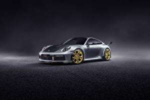 Фото Порше Серебряный 911 Carrera TechArt 992 2019