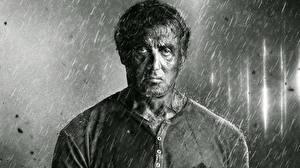 Фото Sylvester Stallone Дождь Черно белое Rambo 5 Last Blood Фильмы Знаменитости