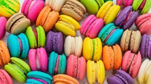 Фото Текстура Макарон Разноцветные Еда