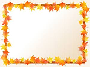 Обои Осенние Шаблон поздравительной открытки Листва Клёна