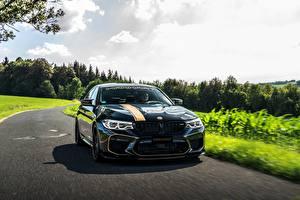 Картинка BMW Черных 2018 Biturbo Manhart M5 V8 F90 723 MH5 авто