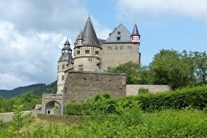 Картинки Замок Германия Castle Buerresheim город