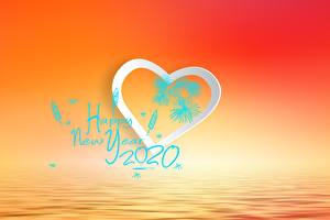 Фото Новый год Сердце Текст 2020