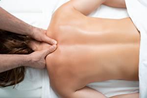 Обои Вблизи Спина Рука massage Девушки