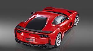 Фото Ferrari Металлик Красные Novitec 812 2019 Автомобили