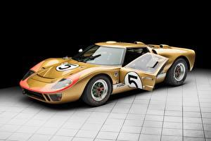 Обои для рабочего стола Форд Золотые GT40 1966 24 Hours of Le Mans авто