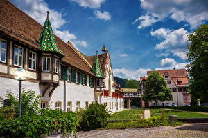 Картинки Германия Здания Храмы Монастырь Blaubeuren Monastery