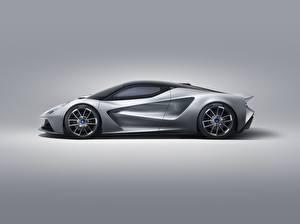 Картинки Lotus Сбоку Серебристая Evija автомобиль