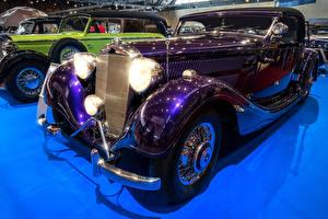 Обои для рабочего стола Mercedes-Benz Ретро Фиолетовый Металлик 1938 320 A авто