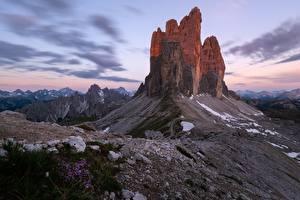 Фото Горы Италия Утес Dolomites Природа
