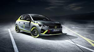 Обои для рабочего стола Opel Серая Corsa-e Rally Автомобили