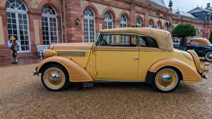 Фотографии Опель Ретро Желтые Сбоку 1938 Super Six машина