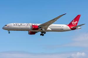 Фотографии Пассажирские Самолеты Боинг Сбоку 787-9 Virgin Atlantic Airways Авиация
