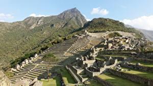 Обои Перу Горы Развалины Machu Picchu, North America