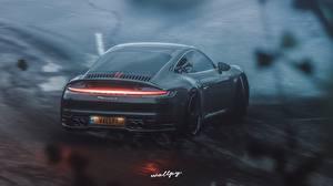 Картинка Порше Forza Horizon 4 Вид сзади 911 Carrera S by Wallpy компьютерная игра Автомобили