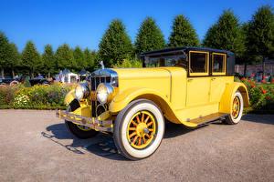 Обои Старинные Желтый Металлик 1927 Franklin автомобиль
