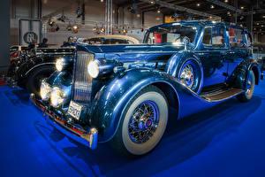 Картинки Винтаж Голубые 1935 Packard Eight авто