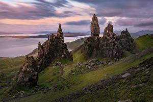 Обои Шотландия Скала Isle of Skye, The Storr Природа картинки