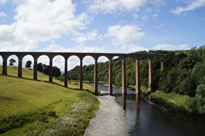Обои для рабочего стола Шотландия Реки Мост Glenfinnan Viaduct Природа