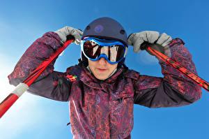 Фото Лыжный спорт Шлема Очки Куртка