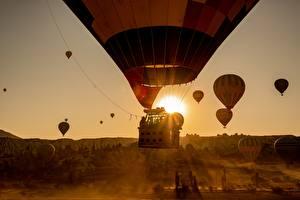 Фото Рассветы и закаты Полет Аэростат