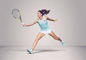 Картинка Теннис Ноги Майка British WTA Johanna Konta Спорт Девушки