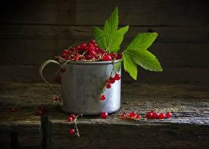 Фотография Ягоды Смородина Кружка Листья