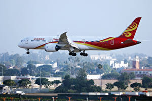 Фотографии Boeing Самолеты Пассажирские Самолеты Летит B 787 Авиация