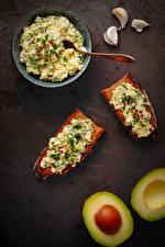 Картинки Бутерброды Хлеб Чеснок Авокадо Каша Двое Еда