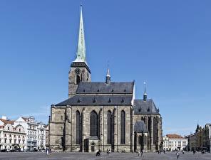 Фотография Собор Чехия Городская площадь St. Bartholomew's Cathedral, Plzeň город