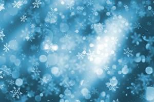 Фотографии Новый год Текстура Снежинки