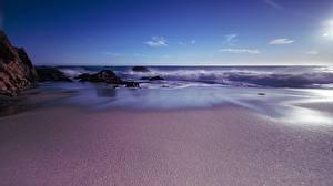 Фотография Побережье Океан США Калифорнии Природа