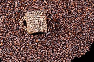 Картинки Кофе Зерно Кружки Еда