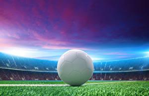 Обои Футбол Стадион Мячик спортивный