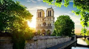 Фотографии Франция Париж Notre Dame
