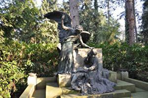 Фотографии Германия Кёльн Памятники Ангел Melaten Angel