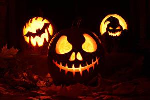 Фотография Хэллоуин Тыква Листва