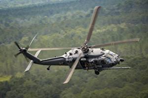 Фото Вертолеты Боке Летят HH-60g Pave hawk