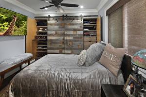 Картинки Интерьер Дизайн Спальня Кровать Подушки