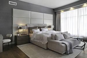 Обои Интерьер Дизайн Спальня Кровать Диван