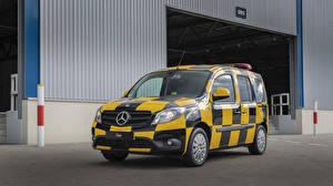 Картинки Mercedes-Benz Стайлинг Такси - Автомобили Металлик Минивэн 2013-19 Citan Follow-me-Car by INTAX Автомобили