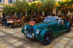Обои Morgan Motor Company Старинные Зеленый Кабриолет Металлик 1936 Morgan 4-4 машина