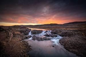 Фотографии Река Утро Ирландия Холм