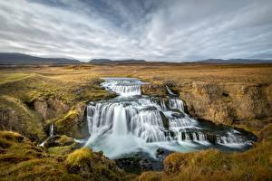 Картинки Реки Водопады Исландия