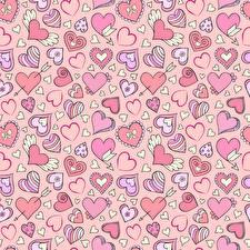 Картинки Текстура День святого Валентина Сердечко
