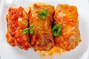 Обои Вторые блюда Втроем Cabbage rolls Еда